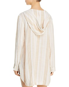 L*Space - Sunsational Stripe Love Letters Tunic Swim Cover-Up