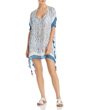 Surf Gypsy - Candy Vintage Baroque Print Swim Cover-Up