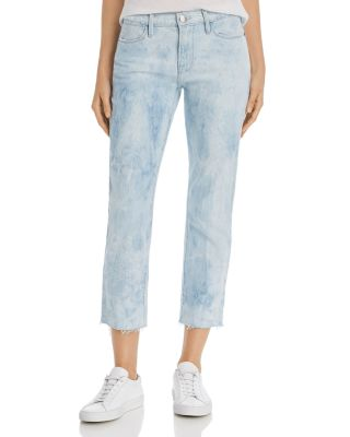 Le High Raw Edge Straight Leg Jeans In Cloud by Frame