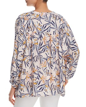 Finn & Grace - Tassel-Tie Floral-Print Top