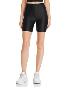Sunset & Spring - Faux Leather Bike Shorts - 100% Exclusive