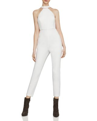 Beaded Halter Cropped Jumpsuit by Bcbgmaxazria