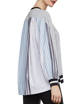 ad56f3cc44918 ... BCBGMAXAZRIA - Striped Mixed-Media Pullover. Quick View