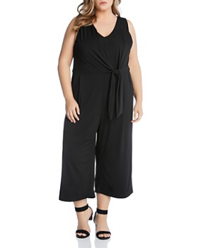 408015fb10a Karen Kane Plus - Sleeveless Tie-Front Jumpsuit ...