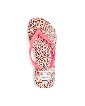 havaianas - Girls' Animal-Print Slim Flip-Flops - Toddler, Little Kid