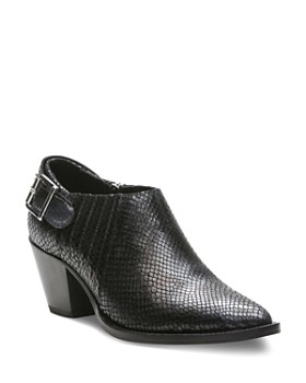 09a4094c6492 The Kooples - Women s Studded Python-Embossed Leather Ankle Boots ...