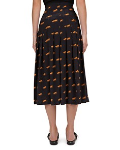 The Kooples - Coup De Chevaux Pleated Skirt