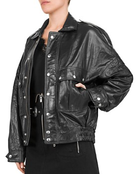 09ca7950dca The Kooples - Leather Batwing Sleeve Jacket ...