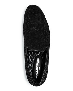 KARL LAGERFELD Paris - Men's Embossed Leather Smoking Slippers