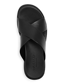 Cole Haan - Men's Goldwyn 2.0 Crisscross Leather Slide Sandals