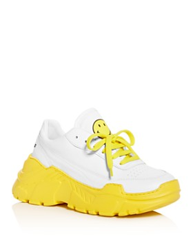 Joshua Sanders - Women's Zenith Yellow Smile Low-Top Sneakers