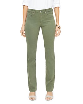 NYDJ - Marilyn Straight-Leg Jeans in Olivine