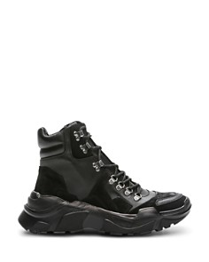 The Kooples - Women's Black Mountain Lace-Up Sneakers