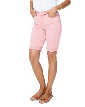 NYDJ - Briella Cuffed Denim Bermuda Shorts in Pueblo Rose