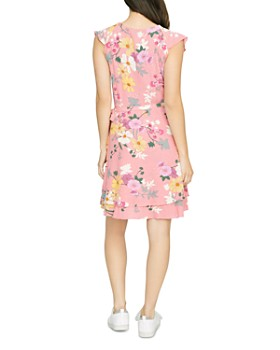 Sanctuary - Johanna Sleeveless Floral-Print Wrap Dress