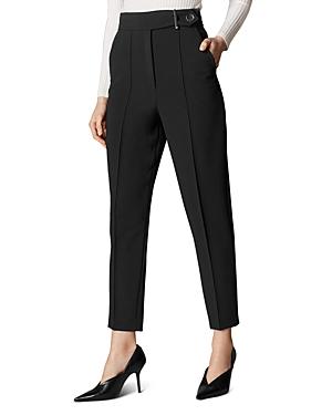 Karen Millen Pants HIGH-RISE SLIM CROPPED PANTS