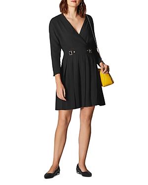 Karen Millen Dresses PLEATED FAUX-WRAP DRESS