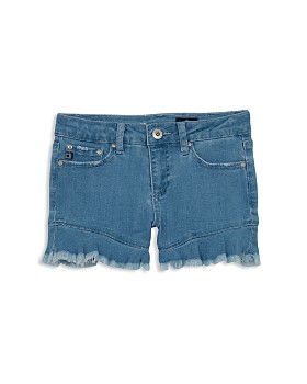 ag Adriano Goldschmied Kids - Girls' The Aria Fluttered Denim Shorts - Big Kid