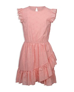 BCBGirls - Girls' Ruffled Fit-and-Flare Dress - Little Kid