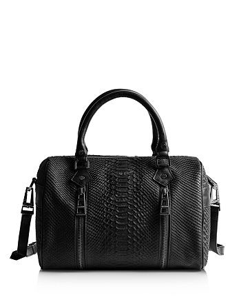 Zadig & Voltaire - Sunny Small Snake-Embossed Leather Shoulder Bag