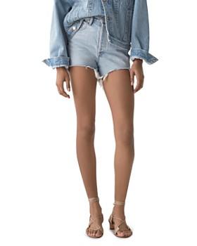 670193532b AGOLDE - Dee Ultra High-Rise Denim Shorts in Digit ...