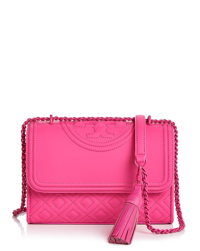 b42266d7155f Tory Burch Fleming Convertible Matte Small Leather Shoulder Bag ...