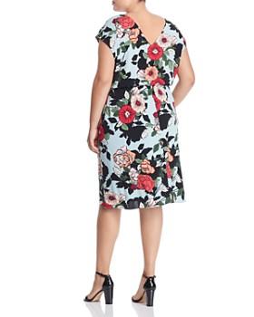 755619bb9b3 ... Adrianna Papell Plus - Cap-Sleeve Hibiscus-Print Dress
