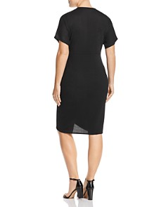 Lost Ink Plus - Ribbed Short-Sleeve Dress
