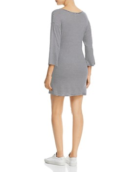Elan - Tie-Front T-Shirt Dress
