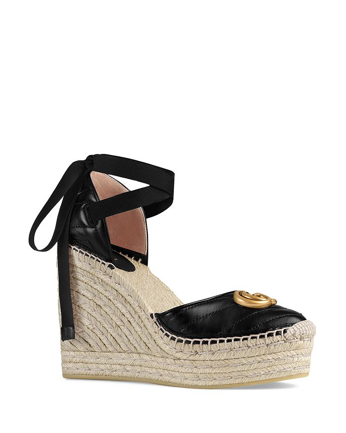 Gucci - Women's Leather Platform Espadrilles