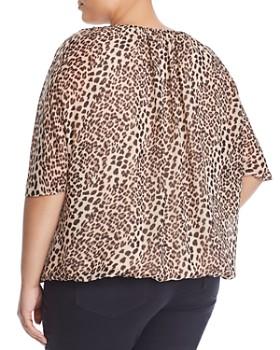 VINCE CAMUTO Plus - Leopard-Print Dolman Top