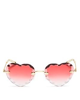 Chloé - Women's Rosie Heart Sunglasses, 55mm