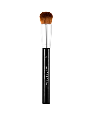 What It Is: A brush ideal for buffing and blending emollient-based products seamlessly into skin. What It Does: - Dense, thick fibers offer moderate to high coverage that is perfectly even - High-performance pro brush, assembled using the finest quality materials for improved longevity - Premium synthetic-fiber quality Free Of. - Animal cruelty