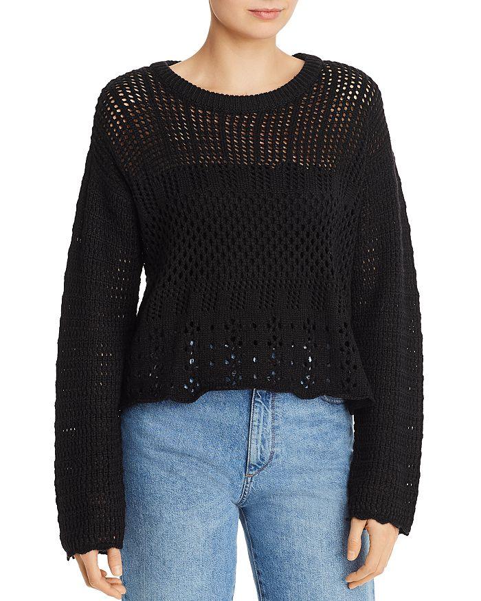 AQUA - Crochet Crewneck Sweater - 100% Exclusive