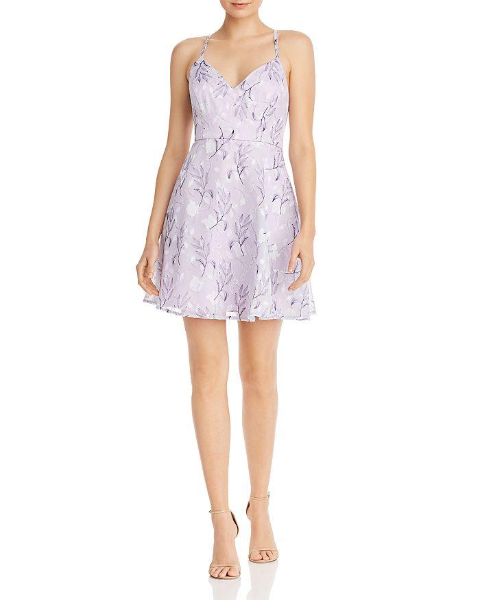 AQUA - Crisscross Fit-and-Flare Dress - 100% Exclusive