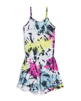 e89e3cf29a7c27 Flowers by Zoe - Girls  Tie-Dyed Romper - Big Kid ...