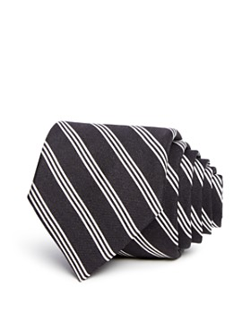 Theory - Striped Silk Skinny Tie