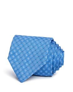 HUGO - Broken Circles Neat Silk Skinny Tie