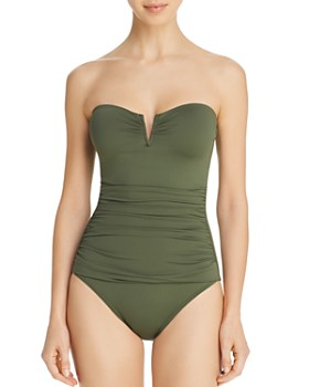 791ff2acc7596 Tommy Bahama - Pearl V-Wire Bandeau One Piece Swimsuit ...