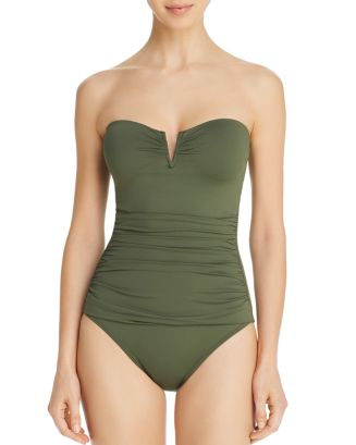 Pearl V Wire Bandeau One Piece Swimsuit by Tommy Bahama