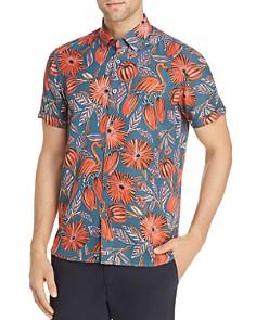 Ted Baker - Memory Flamingo Print Slim Fit Shirt - 100% Exclusive