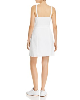 7 For All Mankind - Tie-Front Dress in White Runway Denim