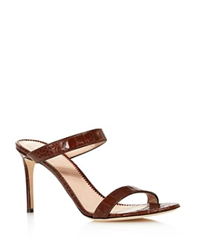 8047156b46d Giuseppe Zanotti - Women s Croc-Embossed Double Strap High-Heel Sandals ...