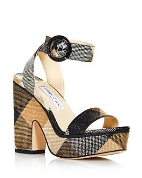 bd310c83397 Jimmy Choo - Women s Aimee 125 Gingham Platform Sandals ...