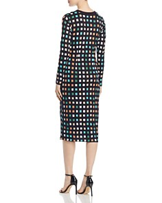 BOSS - Esetta Check Print Ruched Dress