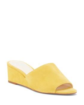 VINCE CAMUTO - Women's Stephana Suede Wedge-Heel Slide Sandals