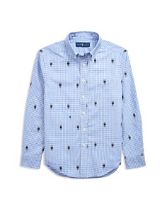 Ralph Lauren - Boys' Polo Bear Gingham Sport Shirt - Little Kid