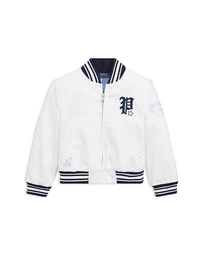b93af8398 Ralph Lauren Girls' Chino Baseball Jacket - Little Kid | Bloomingdale's