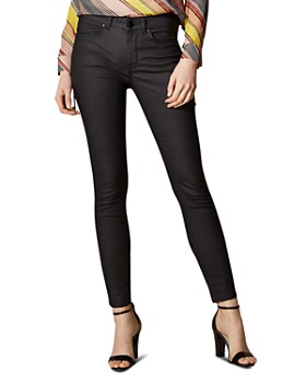 KAREN MILLEN - Coated Skinny Jeans in Black