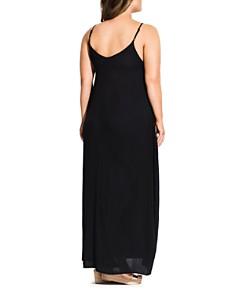 City Chic Plus - Sleeveless V-Neck Maxi Dress